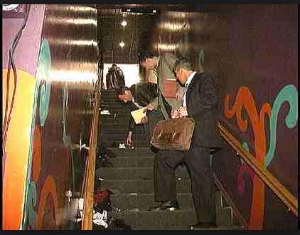 e2 nightclub stairwell